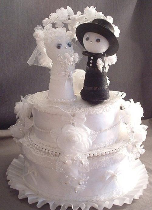مدل تزئین حوله - تزیین ست حوله عروس و داماد