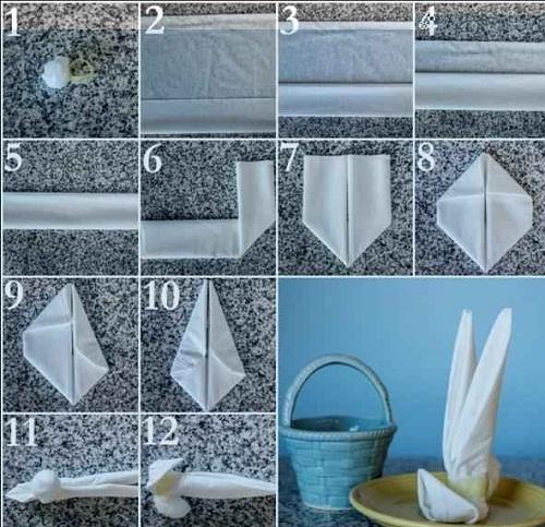 آموزش تصویری تزئین دستمال سفره