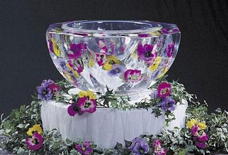 عکس تزیین یخ یخچال عروس