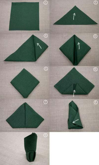 آموزش چند مدل تزئین دستمال سفره  - آموزش تا زدن دستمال سفره - سفره آرایی