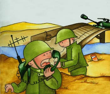 سرگرمی معما و تست هوش  , معما : انفجار در میدان جنگ