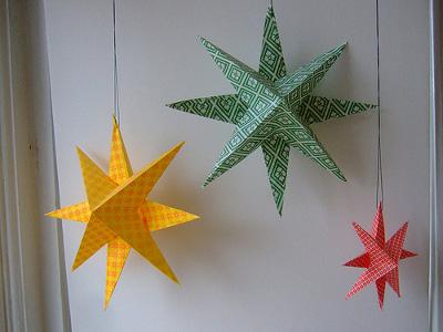 آموزش ساخت آویز کاغذی شکل ستاره