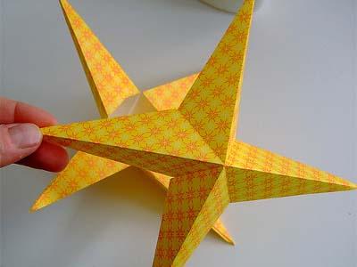 تزئینات تولد, آویز تزئینی ,آویز ستاره کاغذی