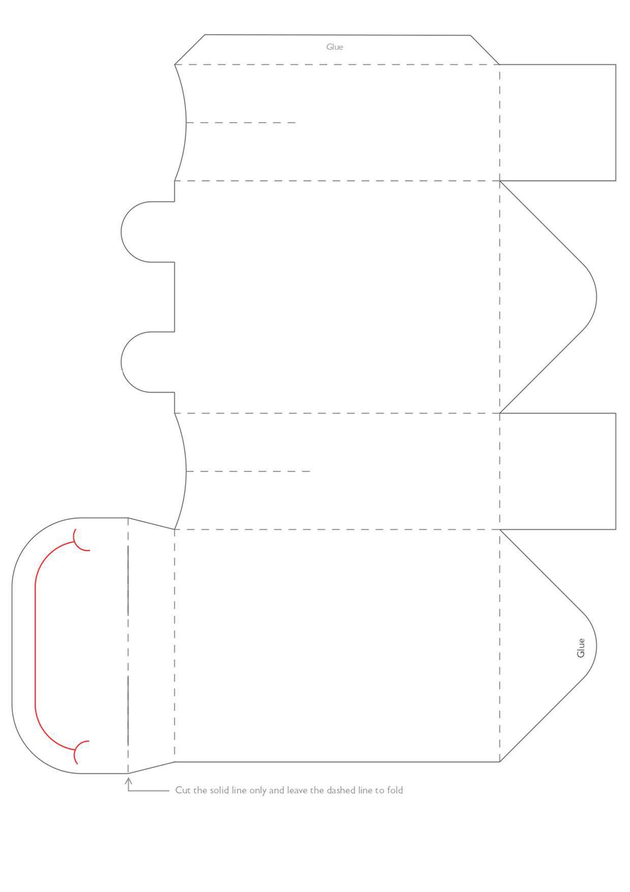 الگوی ساخت جعبه کادو به شکل قورباغه