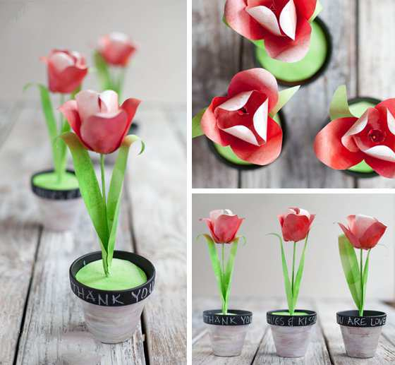 آموزش گلسازی - درست کردن گل با کاغذ - ساخت لاله کاغذی