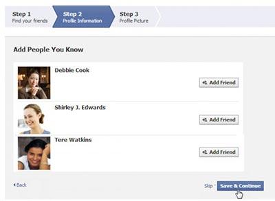 آموزش فیس بوک,آموزش عضویت در فیس بوک,انتخاب دوستان
