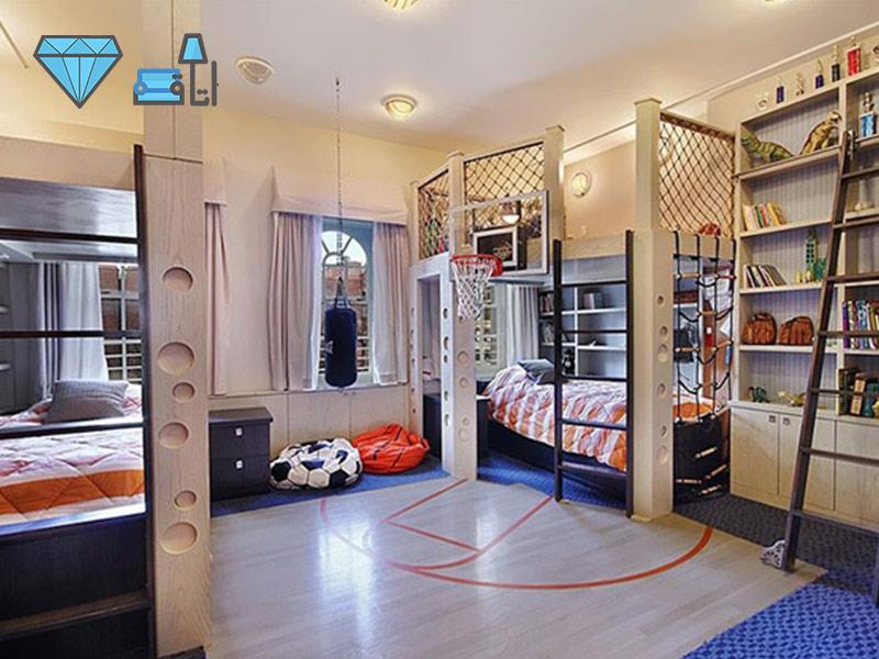 دکوراسیون اتاق کودک با فضایی مناسب برای ورزش و سرگرمی