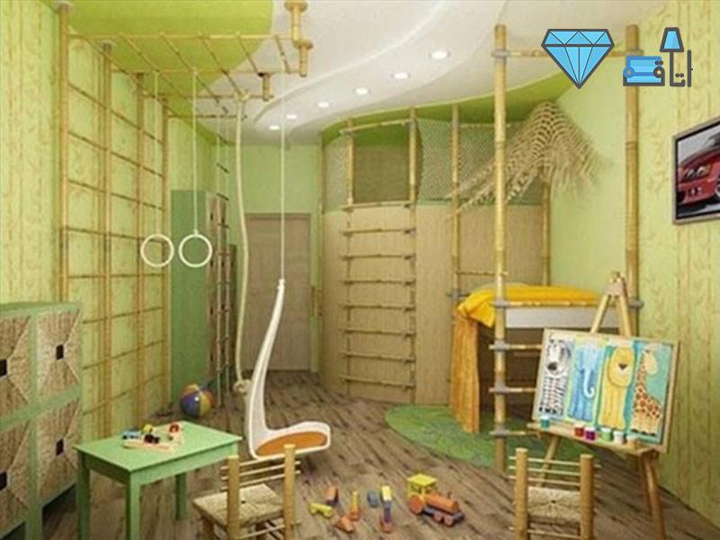 دکوراسیون اتاق کودک به سبک ساحلی با فضایی مناسب برای بازی