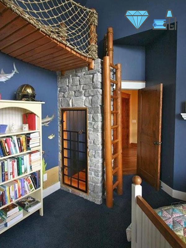 دکوراسیون اتاق کودک با فضایی مناسب برای بازی