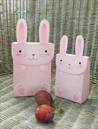 آموزش هنرهای دستی  , الگوی ساخت جعبه هدیه خرگوشی سری دوم