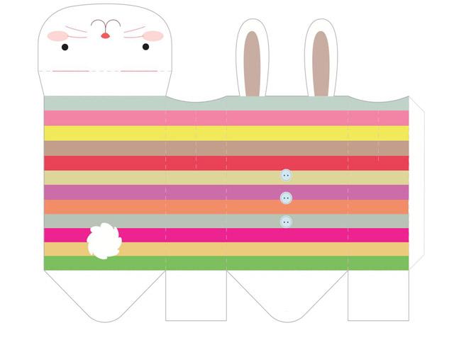 الگوی ساخت جعبه به شکل خرگوش,آموزش ساخت جعبه,جعبه هدیه,آموزش ساخت جعبه خرگوشی,آموزش ساخت جعبه کادو