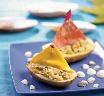 غذایی برای به اشتها درآوردن کودکان - تزیین غذای کودک - تزیین غذا به شکل قایق