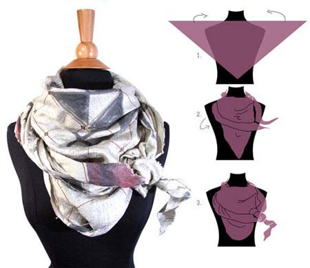 روش های بستن شال و روسری,مدل بستن شال و روسری