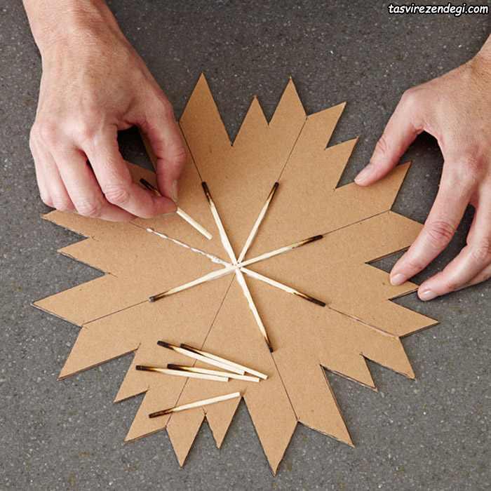 ساخت تابلو تزیینی ستاره