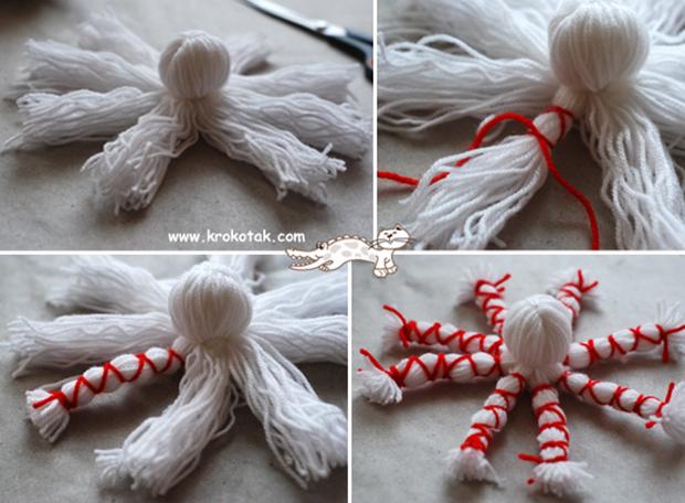 آموزش ساخت هشت پا با کاموا ,ساخت هشت پا ,عروسک, ساخت عروسک ,عروسک سازی, درست کردن عروسک ,درست کردن هشت پا, هشت پا کاموایی