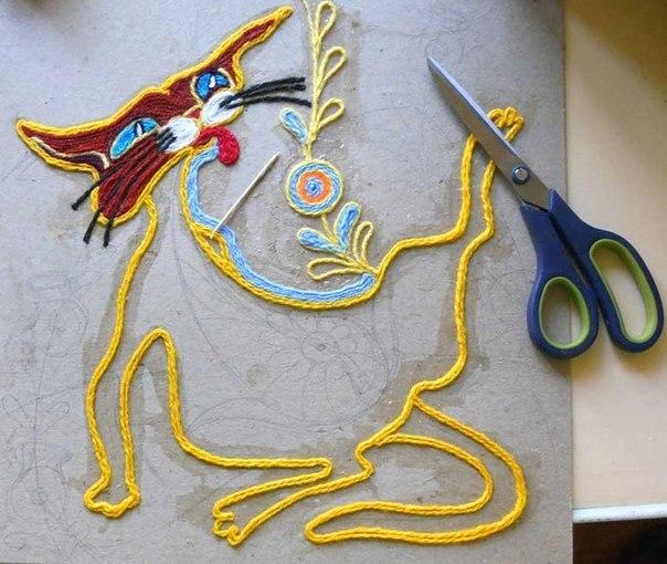 آموزش ساخت تابلو با کاموا اضافی - هنر بازیافت