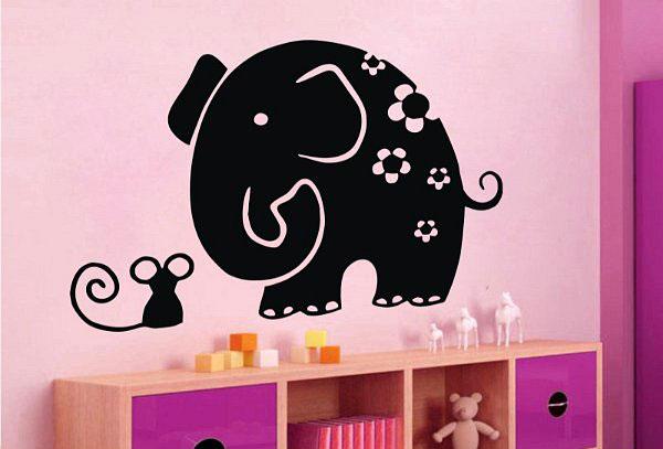 تزیینات منزل - نقاشی کردن روی دیوار اتاق کودک