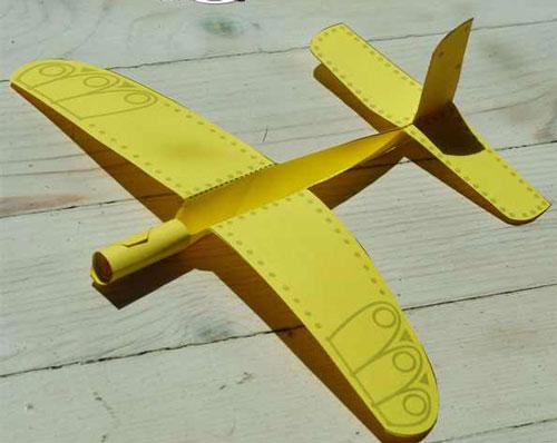 الگو و راهنمای ساخت هواپیمای کاغذی