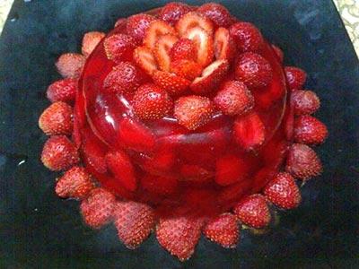 میوه آرایی,آموزش میوه آرایی,آموزش تصویری میوه آرایی با توت فرنگی