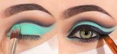 آرایش چشم, آموزش آرایش چشم, آرایش چشم زیبا, خط چشم, زیر سازی پوست, سایه فیروزه ای, سایه مشکی, سایه دودی, سایه قهوه ای, سایه سفید