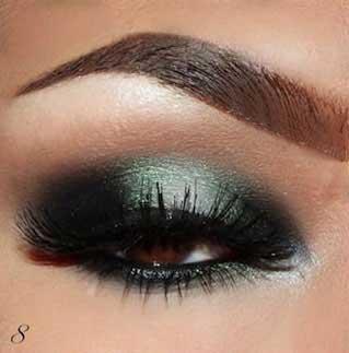 آموزش آرایش چشـم به رنگ سبز و دودی, آرایش ,چشم, آرایش چشم, میکاپ چشم, آموزش سایه زدن, آموزش آرایشگری,سایه سبز, آرایش سبز و دودی