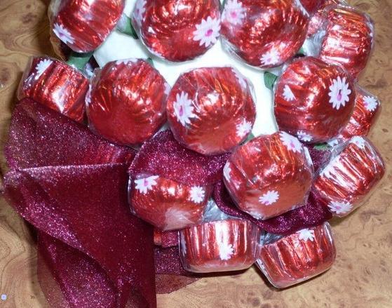 تزیین شکلات به شکل خوشه انگور,تزئین شکلات,خوشه انگور,تزئین کادو,اسفنج,تزیین شکلات,تزیین هدیه