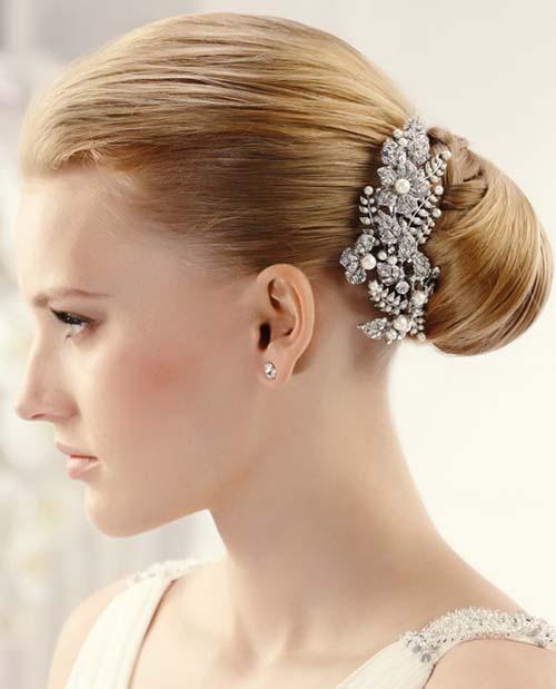 مدل های ساده و زیبای گل سر عروس