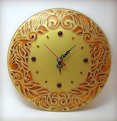 هنر ,هنر دستی ,صنایع دستی ,هنر در خانه ,ویترا ,ویترای ,هنر ویتـرای ,تزیین ساعت ,تزیین ساعت با ویترای, نقاشی روی شیشه ,تزیین ساعت با نقاشی روی شیشه