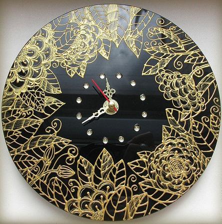 آموزش ویترای  , ساعت های تزیین شده با هنر ویترای