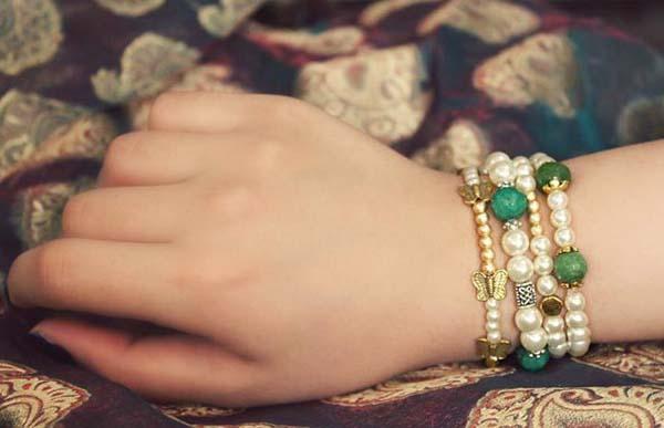 مدل دستبند , دستبند مرواریدی