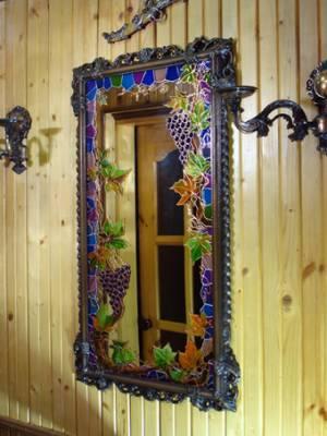 تزیین آینه٬تزیین آینه با ویترای٬ نقاشی روی شیشه٬ ویترای٬ تزیین آینه٬ تزیین آینه با ویترای٬ تزیینات منزل٬ نقاشی روی شیشه٬ هنر دستی٬ هنرهای دستی٬ ویترا, نقاشی روی آینه