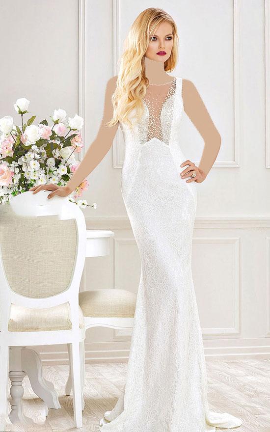 لباس مجلسی سفید نامزدی و عروسی