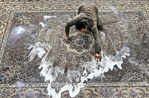 شستشوی فرش در منزل