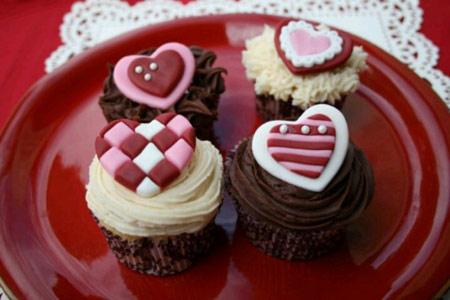 شیرینی های ولنتاین, تزیین شیرینی ولنتاین