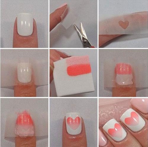 آرایش و زیبایی ناخن  , آموزش تصویری طراحی ناخن (2)