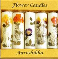 تزیین شمع سفره هفت سین با گل و برگ های خشک - تزیینات سفره هفت سین