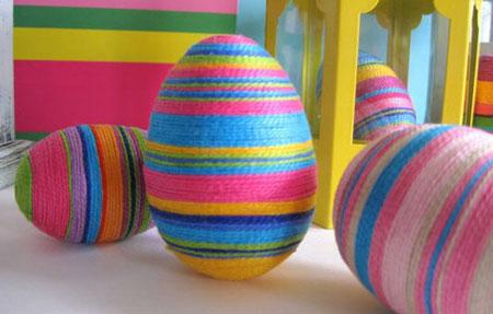 تزیین تهم مرغ سفره هفت سین - تزیین تخم مرغ با کاموا