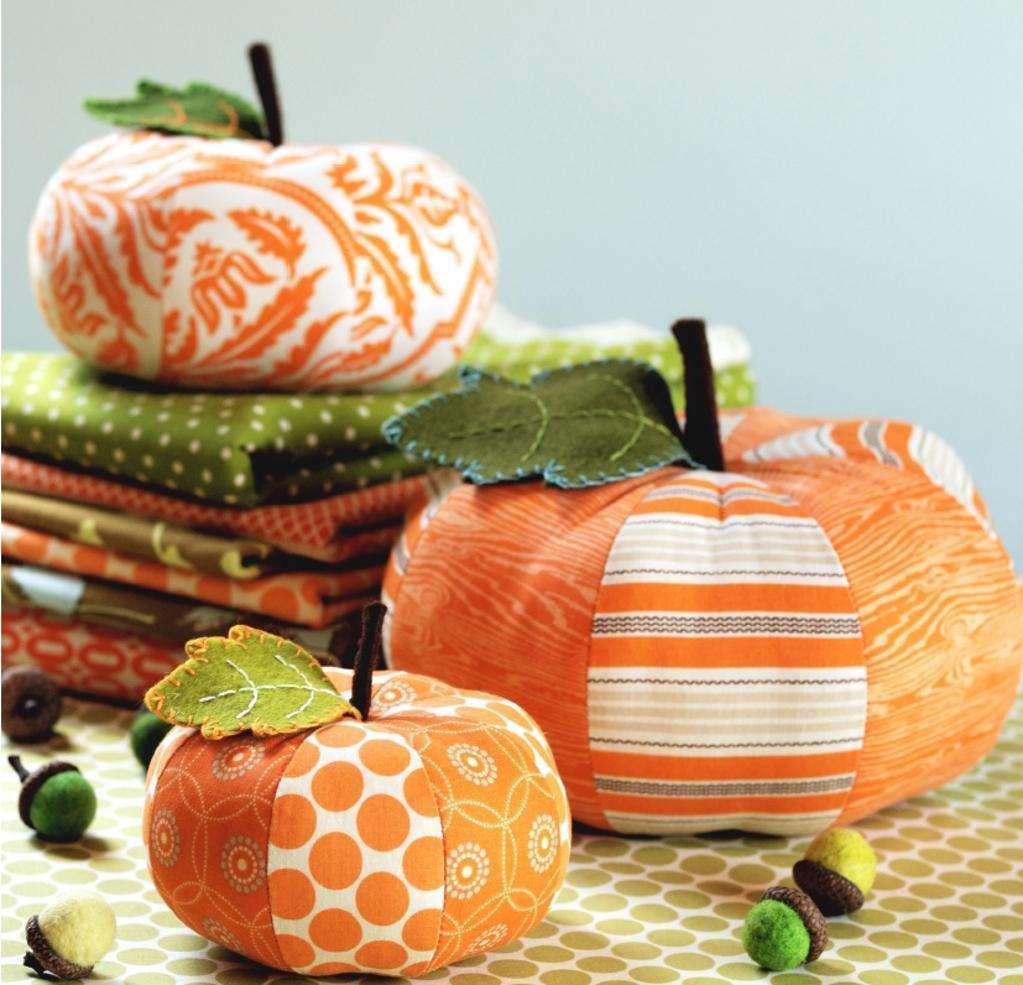 Pumpkin-Shaped Pin Cushions