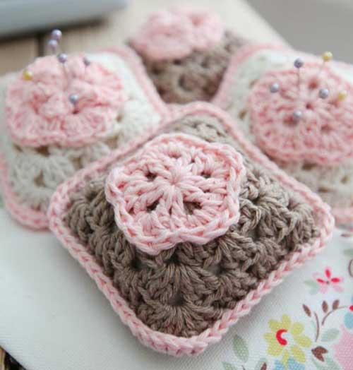 crochet-pincushion- انواع مدل جا سوزنی