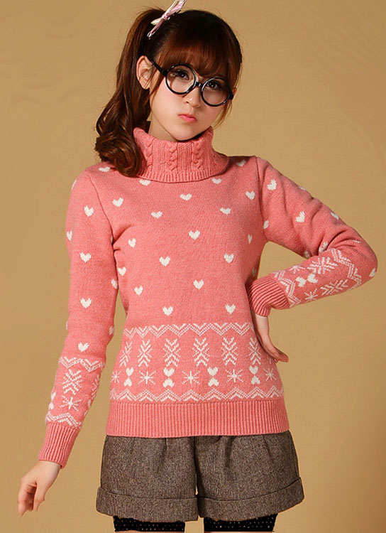 مدل لباس زنانه مدل لباس,کیف,کفش,جواهرات  , مدل بلوز بافتنی دخترانه کره ای 2