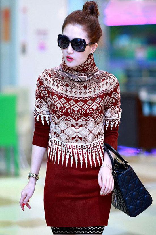 تونیک بافتنی- تونیک دخترانه - تونیک کره ای - تونیک شیک - تونیک پائیزی - تونیک زمستانی