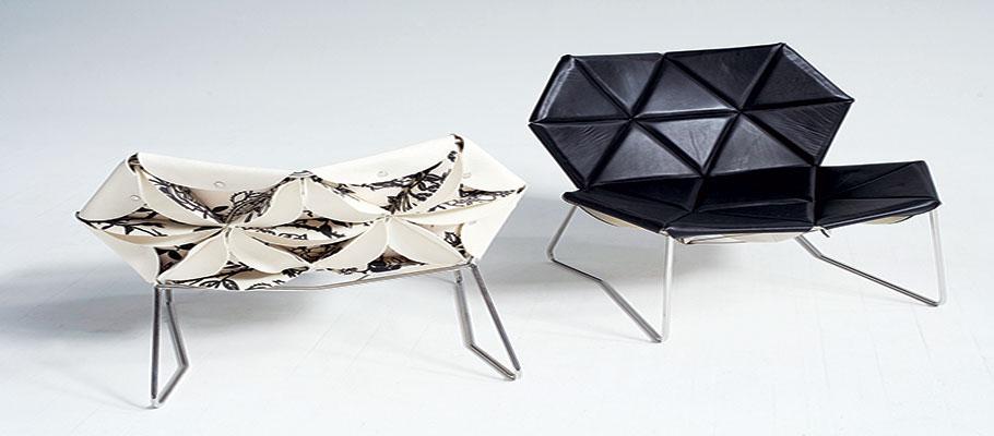 خانه و خانواده دکوراسیون  , مبلمان طراحی شده با هنر اوریگامی