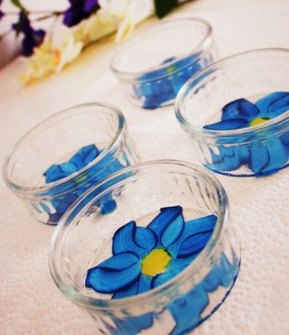 تزیین ظروف شیشه ای ساده - نقاشی روی ظرف شیشه ای - ویترای