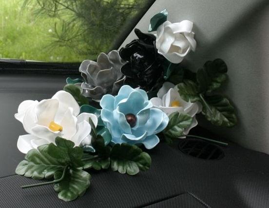 آموزش گل سازی  , آموزش ساخت گل رز با قاشق یکبار مصرف