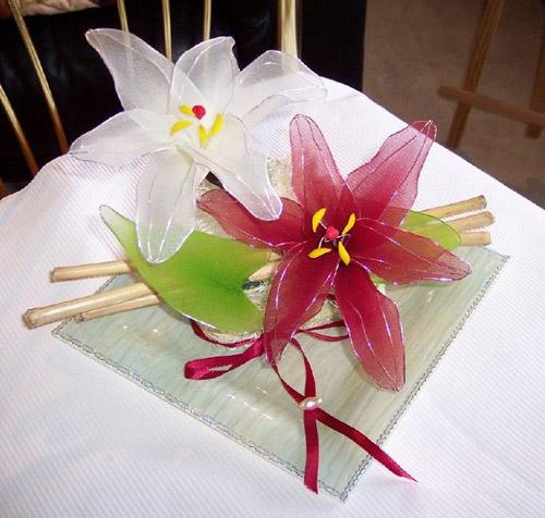ساخت گل با جوراب - گلسازی