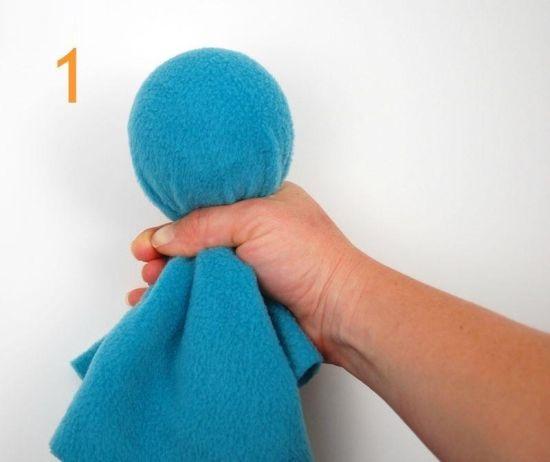 آموزش نمد دوزی  , ساخت عروسک هشت پای نمدی
