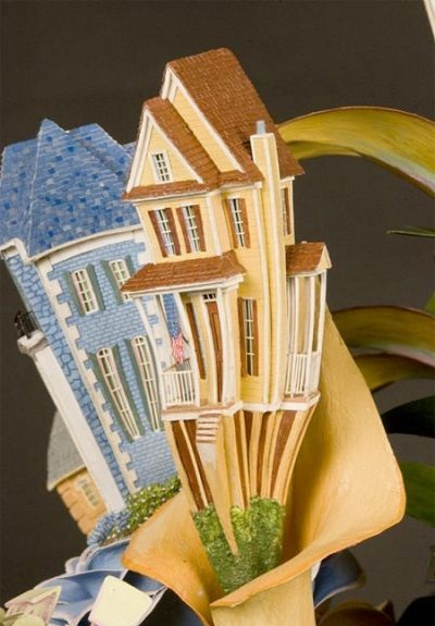 گل و گیاه آپارتمانی و ساختمانهای مینیاتوری - هنرنمایی جیمز گراشو