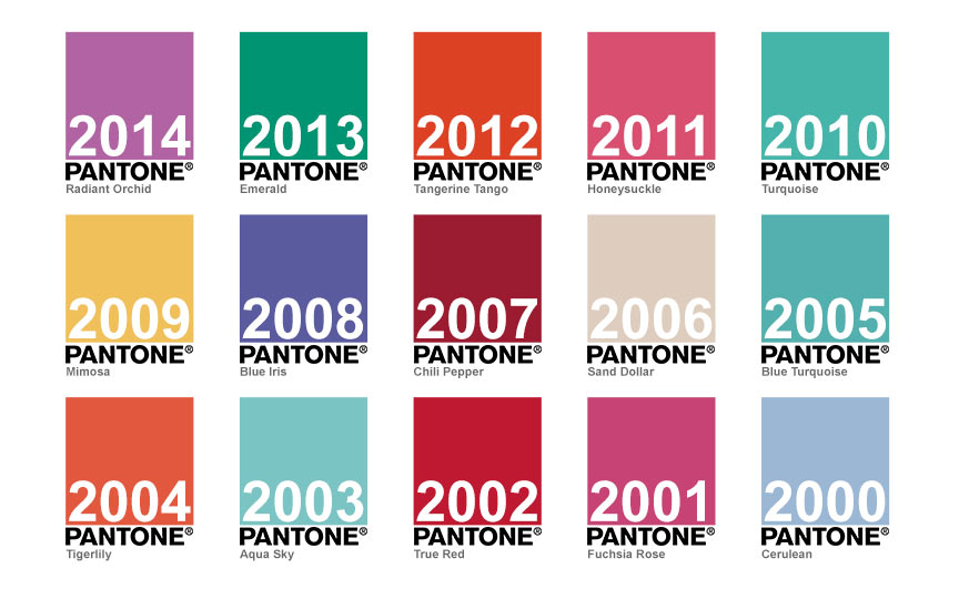 روند اعلام رنگ سال از 2000 تا 2015