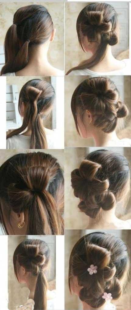 آموزش بستن مو- آموزش آرایش مو - آموزش شینیون ساده - روش بستن موهای بلند