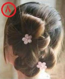 آموزش بستن موها - آموزش آرایش مو - آموزش شینیون ساده - روش بستن موهای بلند